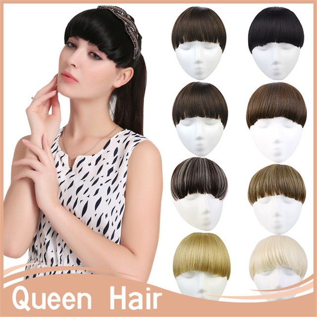 10pcslot B7 30g Female Bangs Extension Synthetic Hair Front Fringe