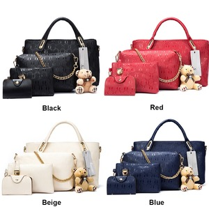 Image 3 - Soperwillton Women Bag Top Handle Bags Female Famous Brand 2020 Women Messenger Bags Handbag Set PU Leather Composite Bag #150