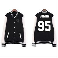 Kpop BTS Bangtan Boys Baseball Uniform Jin Jimin V Suga Women Sport Hoodies Sweatshirts Autumn Outerwears