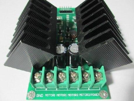 20A dual motor drive module high power H bridge strong braking function DC motor drive board