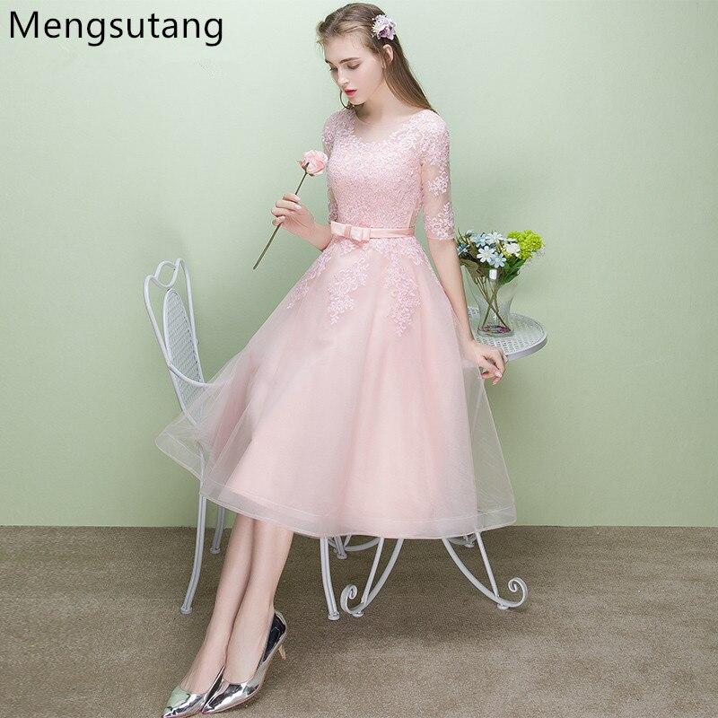 Robe de soirée 2019 nouveauté Robe de soirée élégante rose robes de soirée Robe de soirée de luxe en satin Robe encolure dégagée appliques