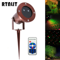 Outdoor Waterproof Green Red Garden Tree Laser Landscape Star Light RF Remote Decorative Projection Lamp For
