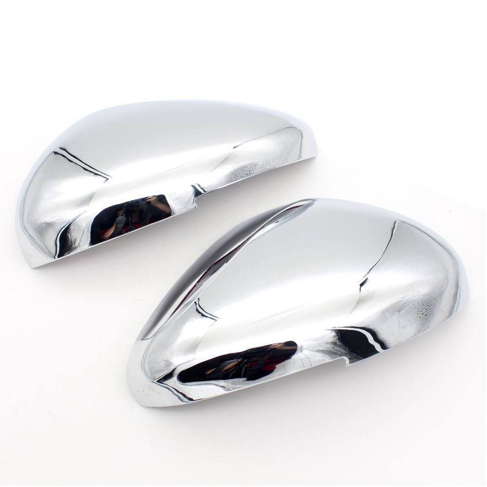 Dongzhen 2pcs For Peugeot 308 ABS Chrome Car Side Mirror Cover Rear View Mirror Cover Trim