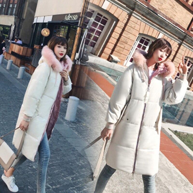 D'hiver Velours 2018 Vers Épais Coton Fourrure Parka blue Manteaux Col dark Des pink Blue Taille gray La Capuchon Beige Plus rembourré De Le Chaud Bas Veste D'or Coton À Étudiants Femmes XRdw88q