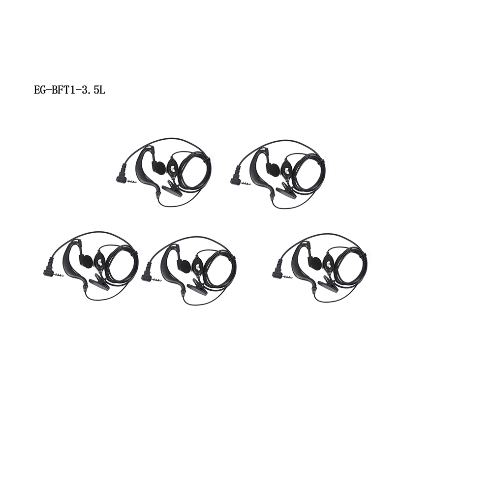 5Pcs Earpiece Headset for Bf T1 UHF400 470 20CH Portable