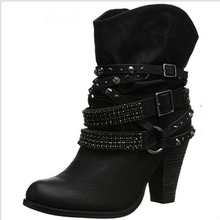 2018 Novas Mulheres Sapatos PU Botas de Neve de Inverno Botas Quentes Do Sexo Feminino Zapatos Mujer Mulheres Sapatos Bota Feminina Tornozelo Bota Clássico