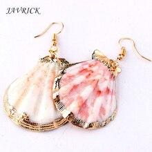 Boho Earrings Natural Conch Shell Drop Statement Ocean Beach Jewelry