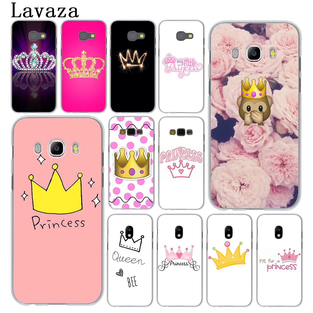 Lavaza PRINCESS Queen boss crown king Hard Phone Cover Case for Samsung Galaxy J3 J1 J7 J5 2015 2016 2017 J2 Pro Ace J5 J7 Prime