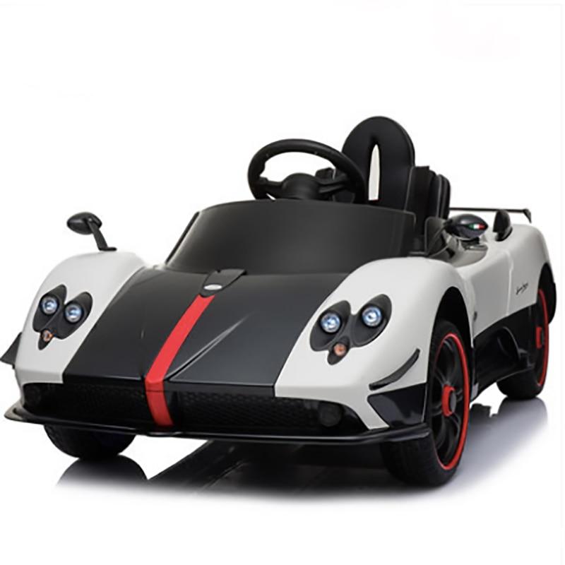 Voiture électrique supercar pour enfants voiture électrique à quatre roues voiture jouet télécommandée pour bébé peut monter des jouets humains