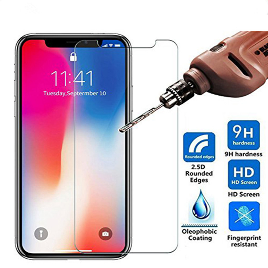 цена на 9H Ultra-thin tempered glass for iPhone 8 7 6 6S Plus screen protector protective glass film for iphone x 5 5s se 4 4s