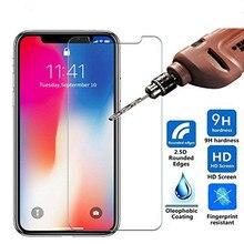 Vidrio Templado ultrafino 9H para iphone 8 7 6 6S Plus protector de pantalla película protectora de vidrio para iphone x 5 5S se 4 4S