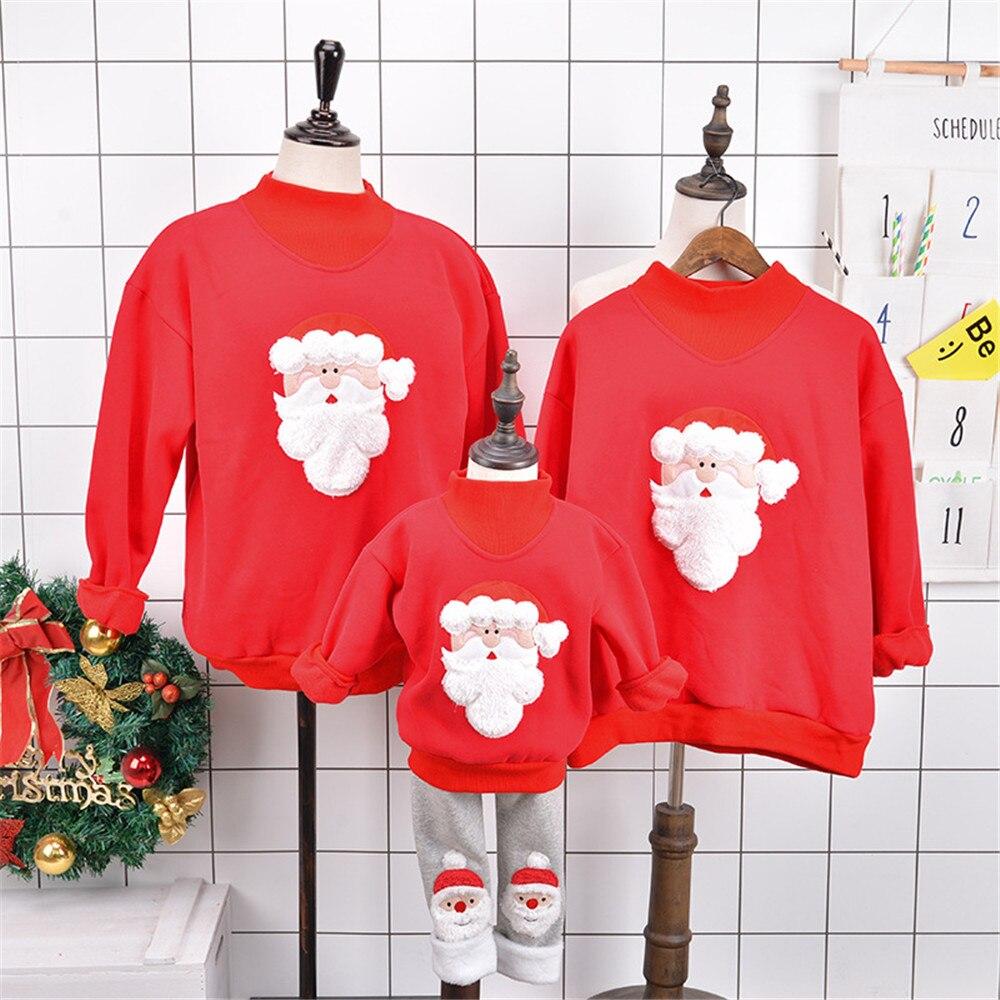 Cosplay winter plus velvet Sweater Christmas Santa Claus Elf Parents Pack Elk  Print Sweater Boys Girls women men Sweatshirt