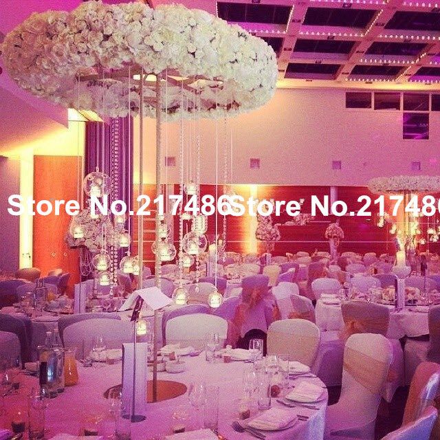 No flower crystal bead flowers including wedding decoration no flower crystal bead flowers including wedding decoration mental flower vase centerpieces junglespirit Choice Image