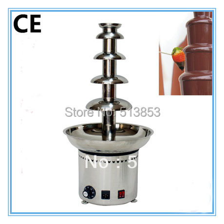 CE Approved 5 tiers Commercial Chocolate Fountain