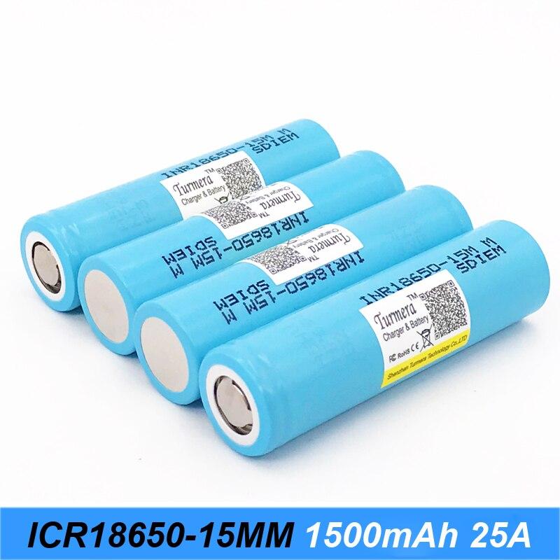 Turmera-batería Original de 18650, 15M, inr18650-15M, 1500mah, 25 amperios para herramientas eléctricas, destornillador, batería y cigarrillo electrónico, AU21