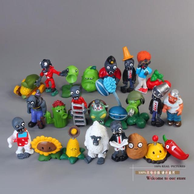 Plantas e Zumbis PVZ Plantas vs Zombies Figuras de Ação PVC Figuras Coleção Modelo Brinquedos Bonecas 24 pçs/lote ANPZ014