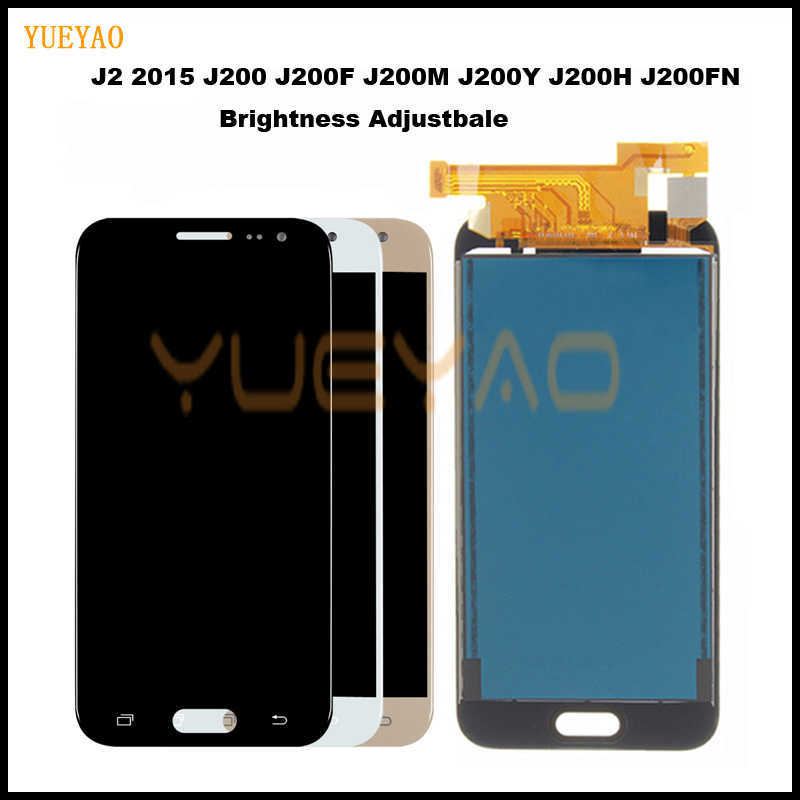 J200 شاشات LCD لسامسونج غالاكسي J2 2015 J200F J200M J200H J200Y شاشة الكريستال السائل محول الأرقام تعمل باللمس الجمعية الشاشة ل samsung J2 J200 LCD
