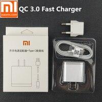 Оригинальные xiaomi mi 9 Зарядное устройство QC 3,0 Быстрая зарядка EU Мощность адаптер для mi 8 se 6 mi x 2 2 s/max 2 3 a1 a2 mi 9 mi 6 mi 8 mi 5S и кабель