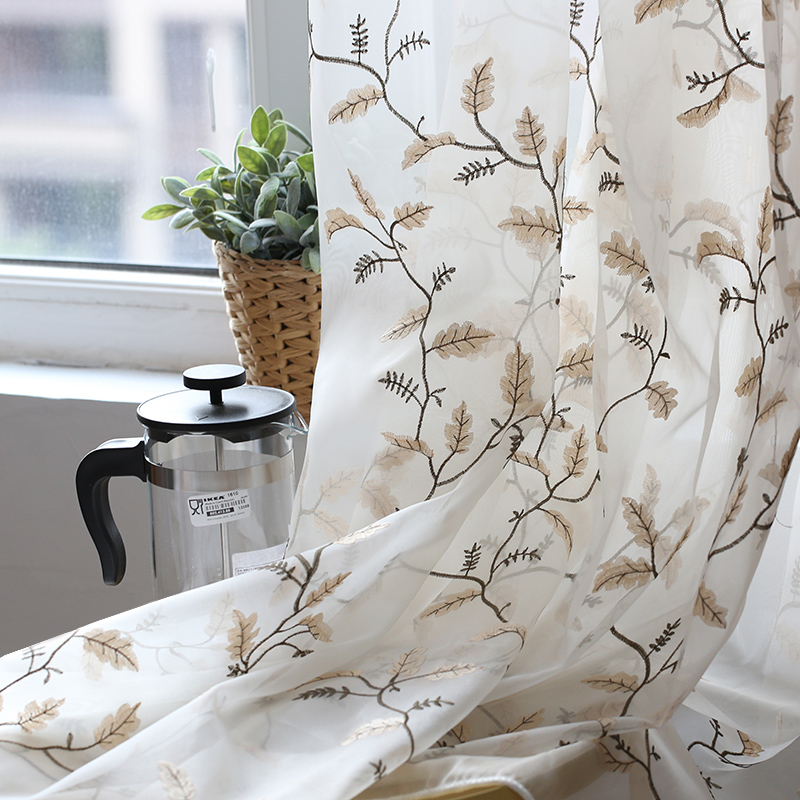 Elegant Thick Faux Linen Blackout Curtains for Living Room Plain Solid Color Curtains For the Bedroom Green Blue Coffee in Curtains from Home Garden