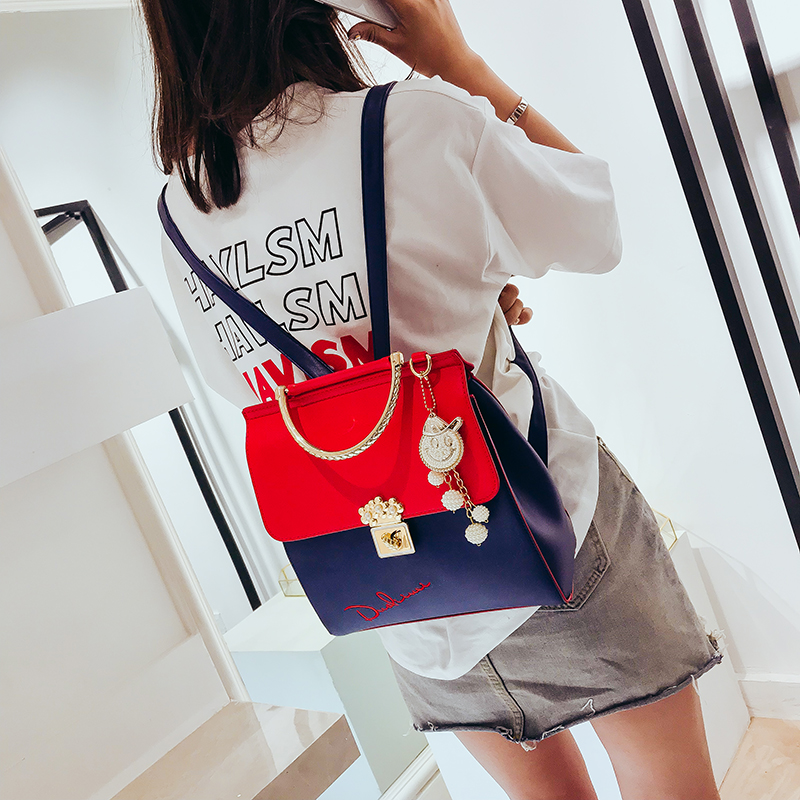 2017new Fashion Women Backpack High Quality Youth Leather Backpacks for Teenage Girls Female School Shoulder Bag Bagpack mochila 3