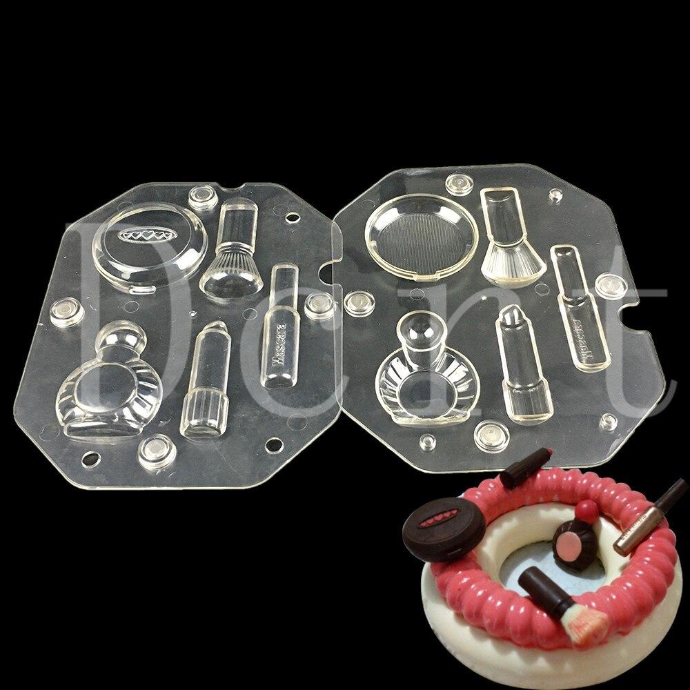 Valentine cadeau spécial 3d DIY chocolat moules, Cosmétique Kit forme polycarbonate chocolat fabrication de moules pâtisserie bonbons outils