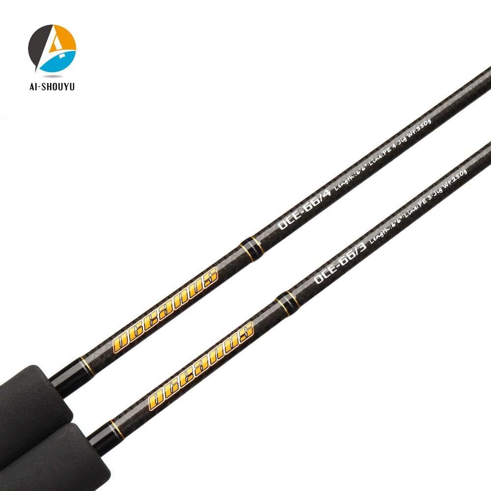 2019 Nuovo Professionale Lento Jigging Rod 1.98m Pieno Giappone Fuji Parti di Singola Sezione di Carbonio Casting Barca Asta di Mare Pesca pole - 4