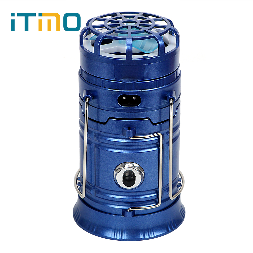 ITimo Collapsible LED Light Multifunction Emergency Portable USB Phone Charge Solar Powered Outdoor Camping Hiking Lamp With Fan