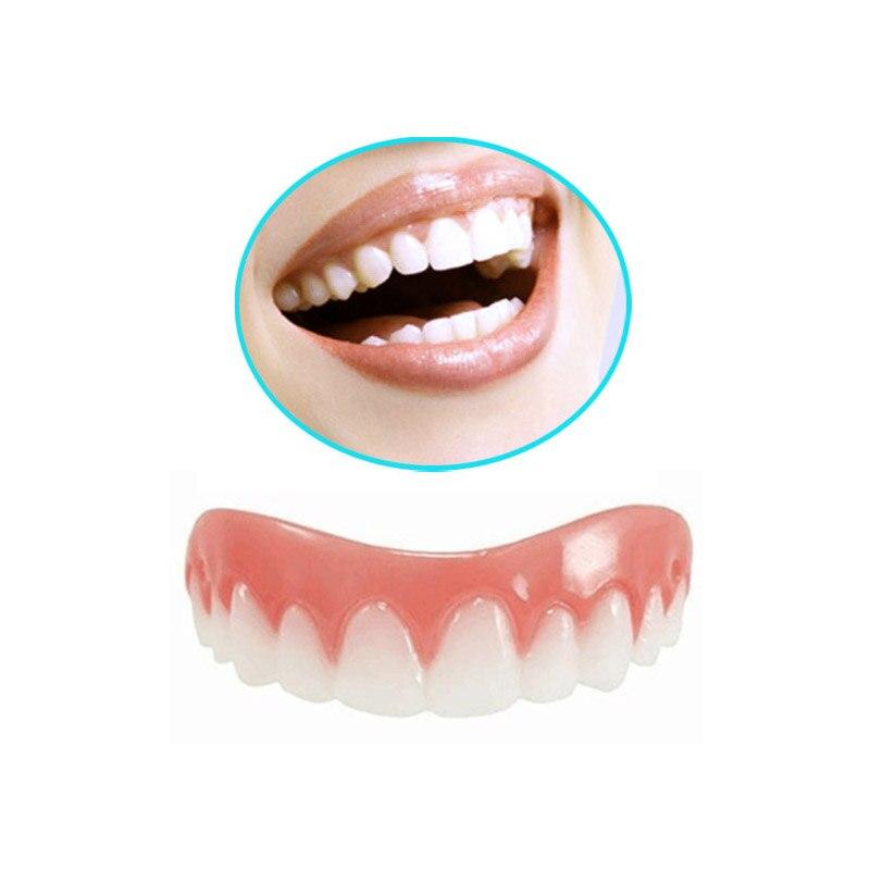 2PCS Perfect Smile Veneers Silicone Denture Smile False Veneerd Teeth Whitening Of Veneer Dub In Stock For Correction Of Teeth