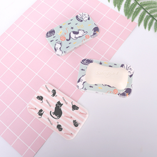 Cute Cat diatomaceous mud saponin leachate soap pad wash table original design soil personality absorbent