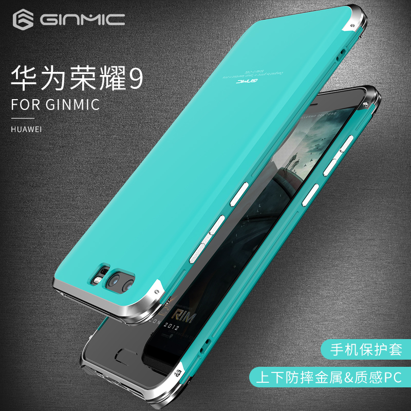 For Huawei Honor 9 case Original Brand Aluminum Metal Frame + PC Hard Armor Anti-knock Back Cover Cases For Honor9