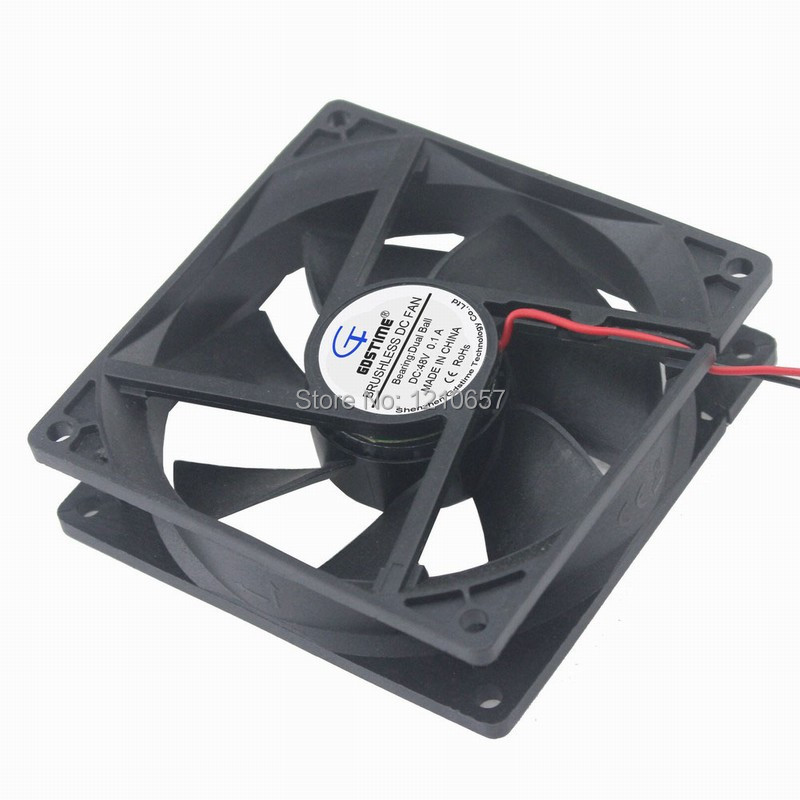 10PCS Lot Gdstime DC Axial Cooling Fan 48V 90mm 92x25mm 2pin Ball Bearing 3700RPM 0.1A
