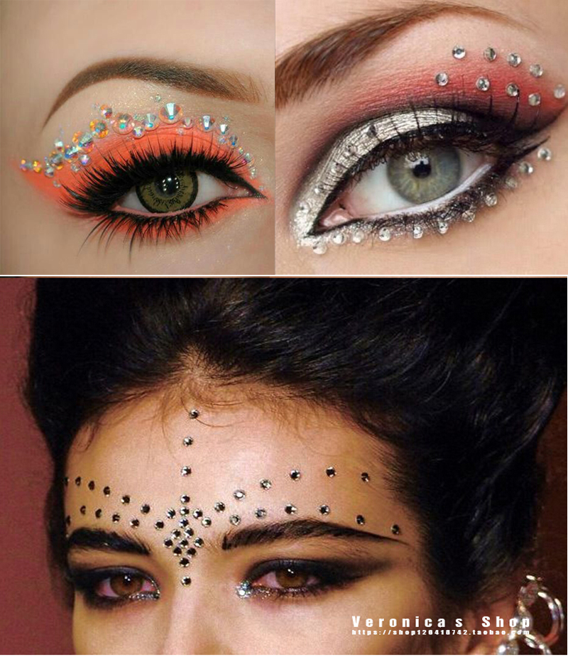 Glitter eyeshadow stickers images for Crystal eye tattoos