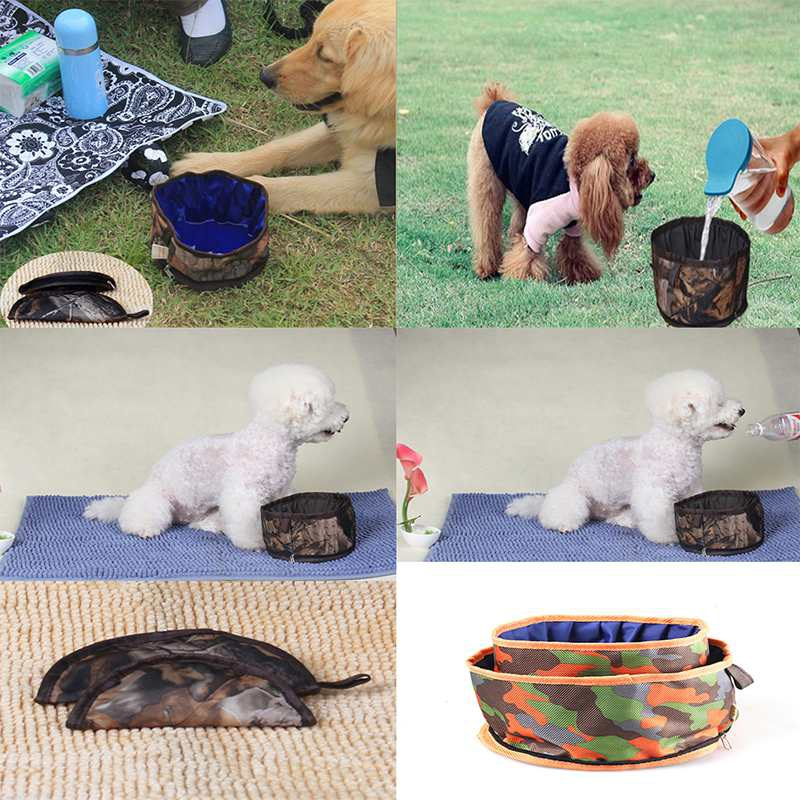 Portable Dog Pet Travel Collapsible Food Water Bowls Pets