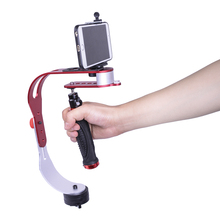 DIGITALFOTO mini handheld camera stabilizer video steadicam mobile DSLR 5d2 Motion DV steadycam smartphone clamp For Nikon Canon