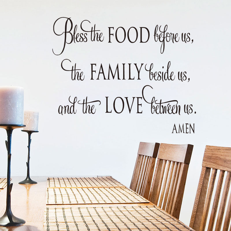 Bless The Food Before Us Wall Sticker Quotes Dining Room