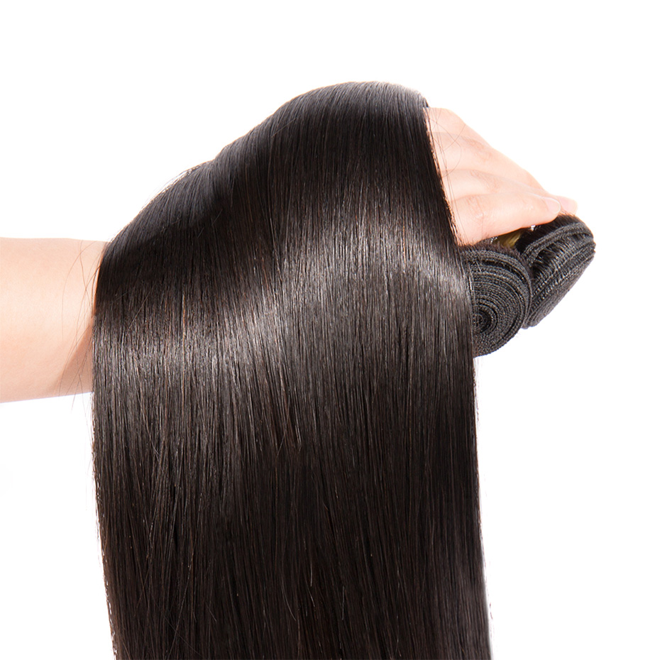 MS Lula Brazilian Hair Straight 3 Bundles With 6x6 Lace Closure Human Hair Bundles Swiss Lace Remy Hair Free/Middle/Three Part