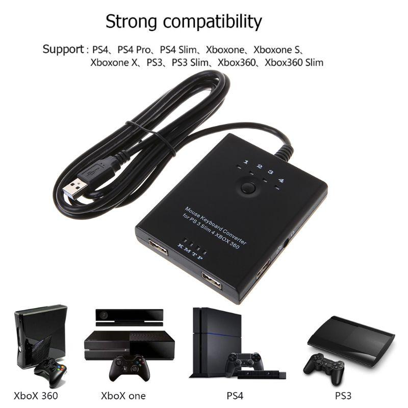 Adaptateur de convertisseur de clavier de souris pour PS3/PS4/XBox 360/XBox One/Xbox one S sans délai Compatible avec tous les jeux
