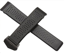 Replacement Watch band 22mm 24mm New Top grade Black Diving Silicone Rubber Holes Watch Band Strap