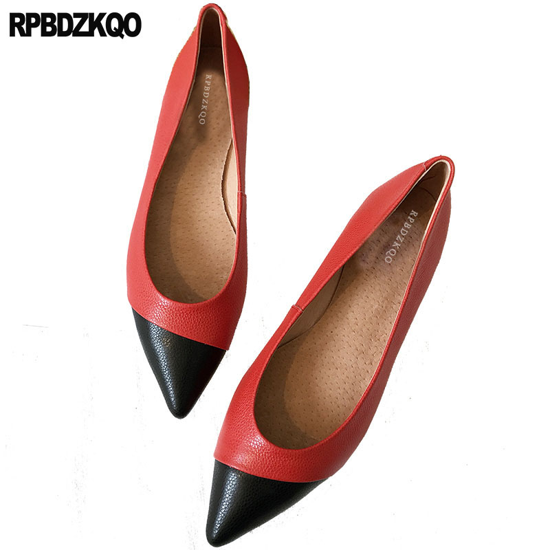Dress Pointed Toe China Red Factory Direct Designer Chinese White Ladies Comfy Italian 2018 Slip On Beautiful Flats Shoes Work