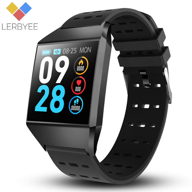 Lerbyee W1C Fitness Tracker Waterproof Heart Rate Monitor Smart Bracelet Call Reminder Sleep Monitor Smart Water for Sport iOS