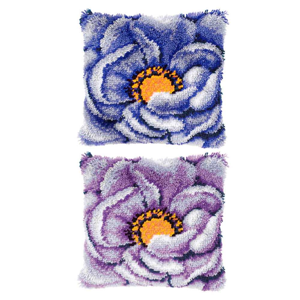 carpet embroidery sale sets latch hook pillow Foamiran for crafts embroidery pillow do it yourself diy rugs cross-stitch pillow(China)
