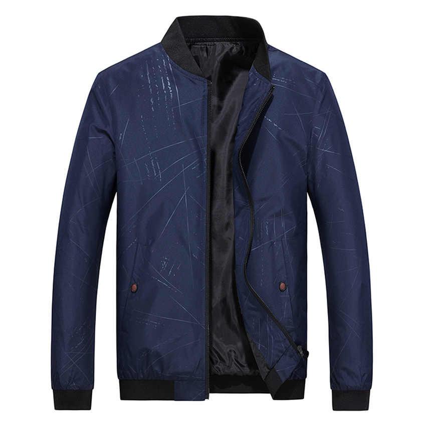 HCXY 2019 Новое поступление, весенне-осенние мужские тонкие куртки, пальто, мужская приталенная обычная куртка, верхняя одежда, Мужская Красивая M-4XL с принтом