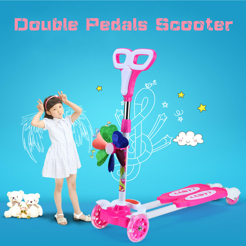 Prix pour Quatre Roues Scooter 3-12 ans Enfants Meilleure Qualité Enfants Scooter Pour Vente Full Flash PU Roue Dans 35 KG