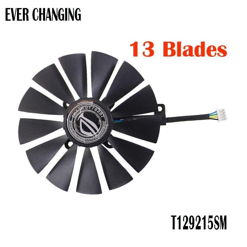 FDC10M12S9-C T129215SM 12 V 0.25AMP PLD10010S12H 0.30A 95mm VGA ventilador para ASUS STRIX RX470 O4G de 4PIN 13 hojas ventilador de refrigeración