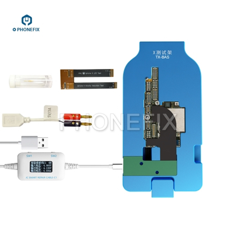 PHONEFIX JC TX BAS Test Fixture Frame with JC C1 Cable Box for iPhone X Motherboard