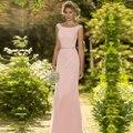 Pink Mermaid Bridesmaid Dresses Elegant Long Vestido de Festa de Casamento vestido madrinha Cheap Wedding Guest Dress