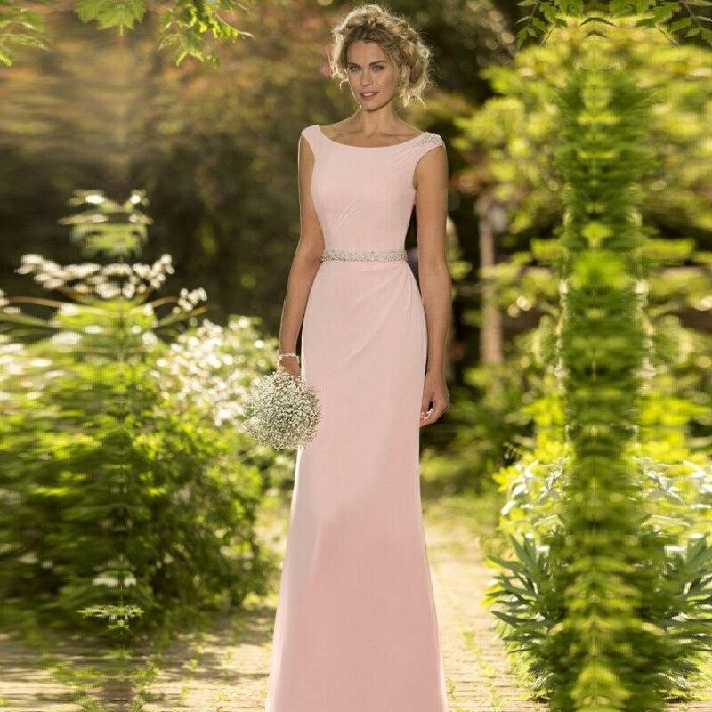 rose sirne robes de marie lgante longue robe de festa de casamento robe madrinha pas cher - Robe Invite Mariage Pas Cher