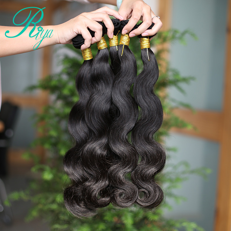 Riya Hair Brazilian Human Hair Weave Bundles 10-30 inch 100% Human Hair Bundle Deals Natural Color Remy Hair Body Wave Bundles