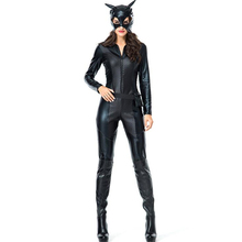 Sexy Black Cat Womens Costume Halloween Adult Party Cosplay Clothing halloween costume sexy cat women fancy dress adult kid black cat party cosplay jumpsuit cuddly animal costume family clothing