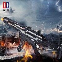 Simulation MP5 Submachine gun PUBG CS GO Weapons Military Technic Model Building Block Bricks compatible for Legos toy boy gifts